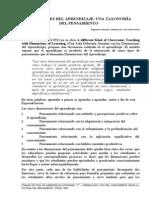 Dimensiones Del Aprendizaje Una Taxonomia Del Pensamiento