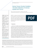 American Cancer Society Guideline for the Early Detection of Cervical Neoplasia and Cancer