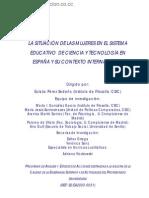 LA SITUACIÓN DE LAS MUJERES EN EL SISTEMA EDUCATIVO DE CIENCIA Y TECNOLOGÍA EN ESPAÑA Y SU CONTEXTO INTERNACIONAL