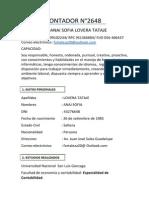 Anai Sofia Lovera Tataje