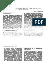 La auditoria gubermanetal en el contexto de la adminstración publica en Mexico