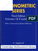 A. Zygmund Trigonometric Series, Third Edition, Volume I & II Combined (Cambridge Mathematical Library) 2002
