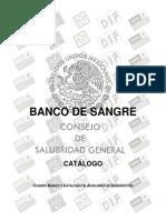 Catalogo de Banco Sangre