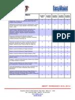 Matriz de Funcionalidad EasyMaint Software de Mantenimiento.