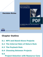 Chapter 7 - Investment Decision Rules