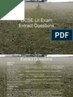 GCSE Lit Exam - Extracts