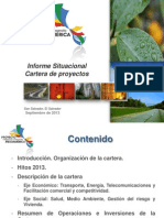 Proyecto Mesoamerica - Informe Situacional Cartera de Proyectos Septiembre 2013