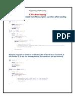 C Files Processing