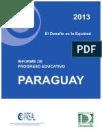 Informe de Progreso Educativo PARAGUAY 2013