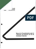 Manual de Procedimientos Para La Liberacion Del Derecho de Via