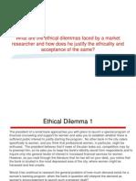 Ethical dilemmas