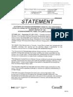 IPCC Draft Statement