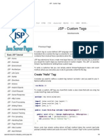 JSP - Custom Tags