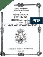 Contenidos Historia Naval y Cuadernos Monográficos. Año 1991