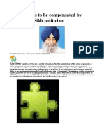 Genocide Has to Be Compensated by Separation Sikh Politician
