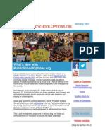 PublicSchoolOptions.org January 2014 Newsletter