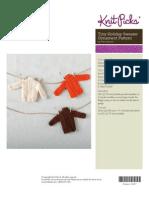 Tiny Holiday Sweater Ornament Pattern by Nina Issacson