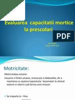 Evaluarea Capacitatii Motrice La Prescolari