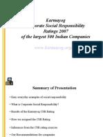 Karmayog CSR Ratings-Oct2008