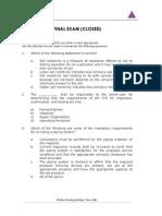 API 570 Final Exam Closed