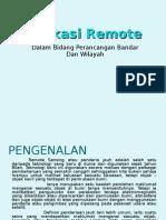 Aplikasi Remote Sensing Dalam Bidang Perancangan Bandar Dan Wilayah