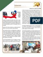 Boletin 113 Informe Misionero Haiti Agosto 2009
