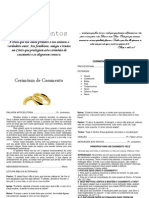 CERIMÔNIA DE CASAMENTO, Modelo 2 - completa