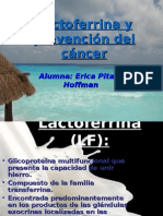 Lactoferrina y prevención del cáncer