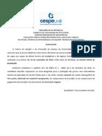 Comunicado Horrio Das Provas 09.11.10