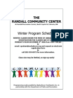 Randall Winter '14 Schedule