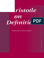 Aristotle on Definition