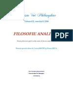 """[Vox Philosophiae] Apel la contribuţii, Numărul 1/2010, """"Filosofie analitică"""", Termen limită 15 mai 2010."""