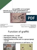 Graffiti and Self in prison setting