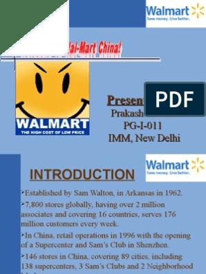 PPT Walmart   Walmart   Retail