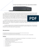 OnAccess7724S Triple Play Multiplexed CATV Fiber Optic Ethernet Switch