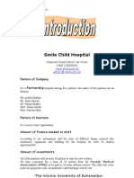 Business Plan of Smile Child Hospital