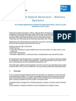 Understand Hybrid Generator Battery Systems White Paper A