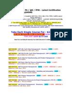 Sap Plm Pm Ps Qm Ppm Xrpm Latest Certification Study Materials Set for Sap Exam Codes C_tplm10_71 & C_tplm22_60 & C_tplm22_64 & C_tplm50_95 & C_tplm40_05 & C_tplm30_05