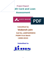 Vedansh Project on Axis Bank 2008-09