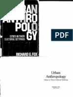 Fox Urban Anthropology