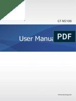 Samsung Note 8 GT-N5100 User Manual