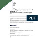 Une Politique Qui Vole Sur Les Ailes de La Poesie Pratiques Politico Poetiques Au Sein de La Ligue Du Nord (Terrain 1627 41)