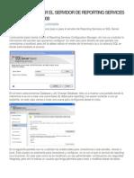 Como Configurar El Servidor de Reporting Services en SQL Server 2008
