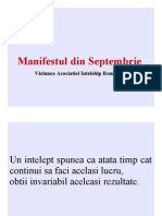 Manifestul Din Septembrie - AIR -  Asociatia Intelship Romania