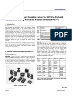Transformer Design Consideration for Off line Flyback Converters Using Fairchild Power Switch (FPS™)