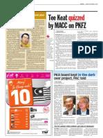 TheSun 2009-09-04 Page02 Tee Keat Quizzed by Macc on Pkfz
