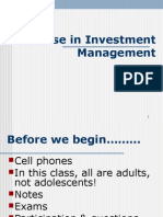 Course in Investment Management