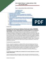 Curso Anestesia y Analgesia Por Acupuntura