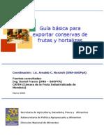 Como Exportar Conservas
