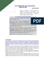 Reforma Do Codigo Penal Lei No 12 012 de 6 de
